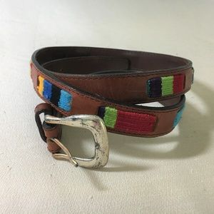 VTG Fossil Guatemalan Belt Leather and Fabric, L